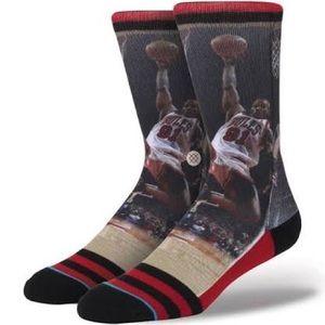 Stance Dennis Rodman Chicago Bulls Crew Socks L/XL